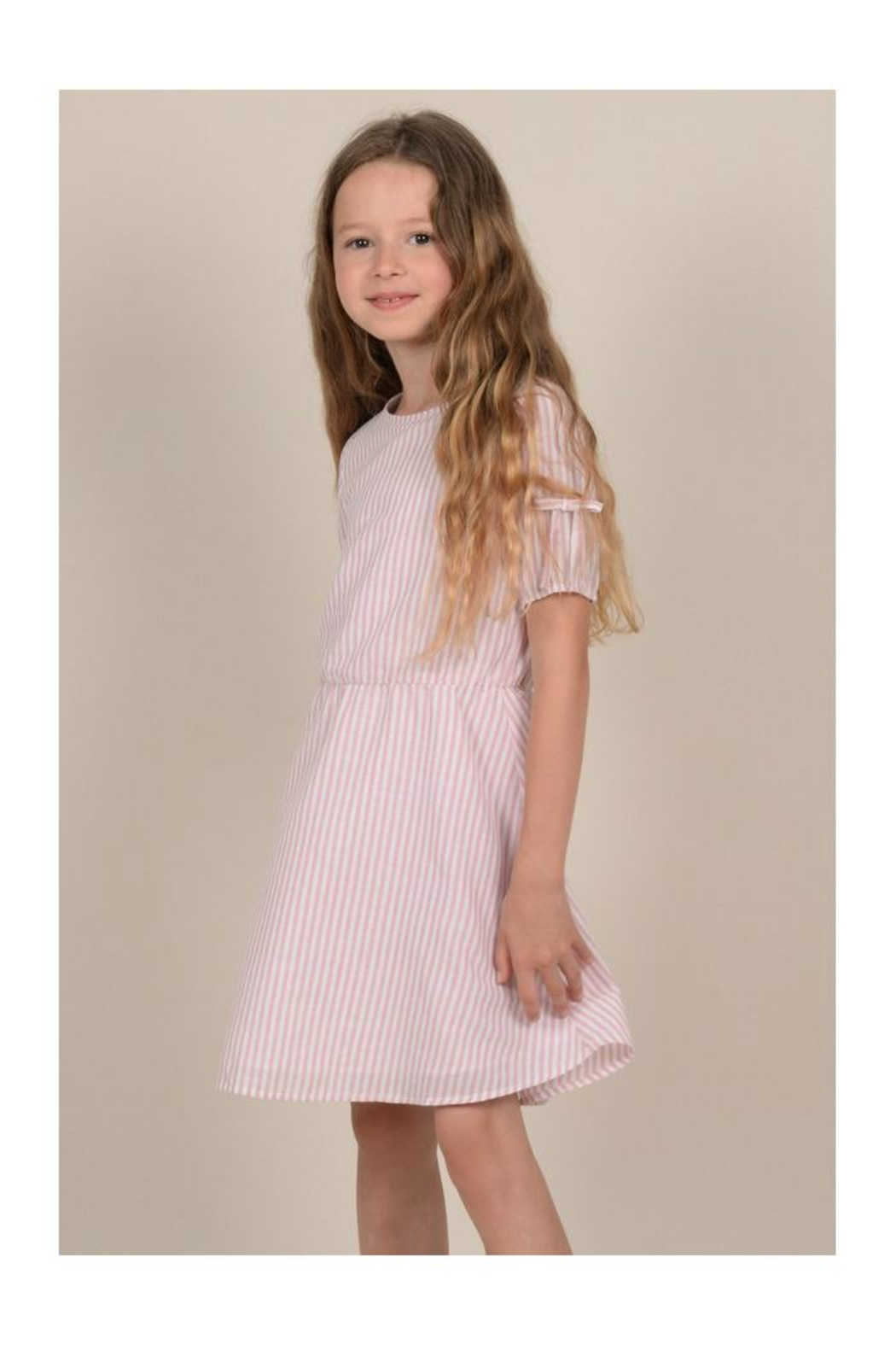Mini Molly Mini Striped Dress - Side Cropped Image