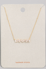 FAME ACCESORIES Mini Stud Bar Necklace - Front cropped