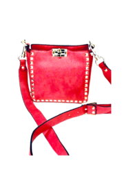 INZI Mini Studded Crossbody with Turn Lock Closure - Product Mini Image