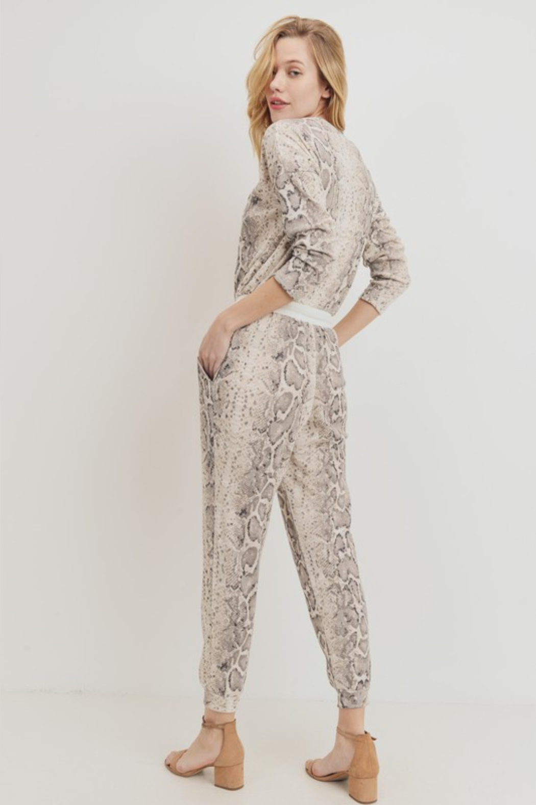 Olivaceous  Mini Thermal Knit Jumpsuit - Side Cropped Image