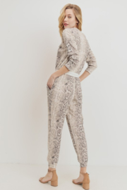 Olivaceous  Mini Thermal Knit Jumpsuit - Side cropped