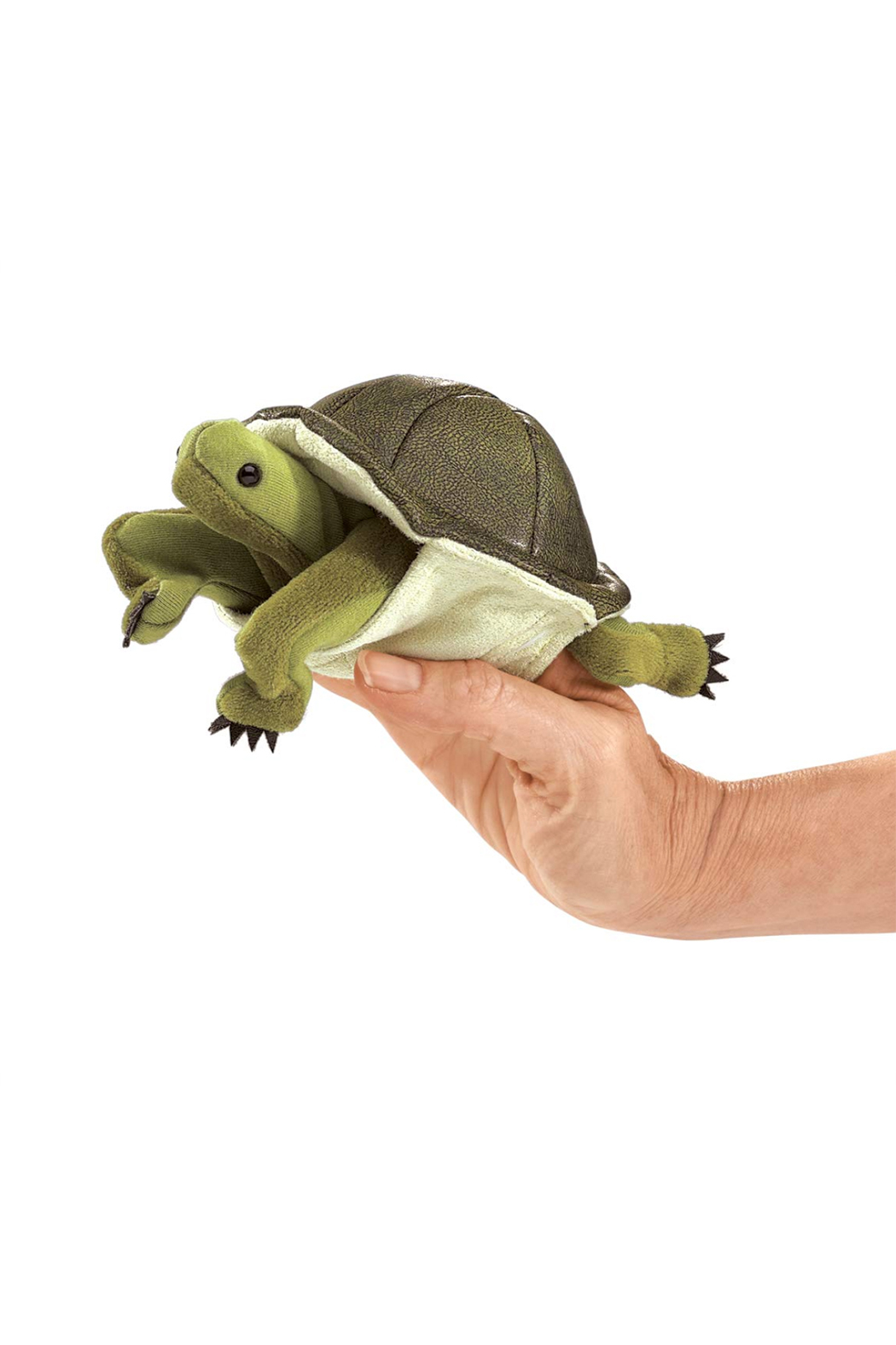 Folkmanis Mini Tortoise Finger Puppet - Front Cropped Image