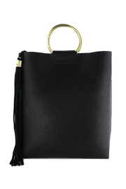Street Level Mini Tote w/ Tort Ring Handle - Front cropped