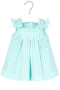 Shoptiques Product: Mini Turquoise Basket-Weave-Dress