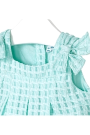 Mayoral Mini Turquoise Basket-Weave-Dress - Front full body