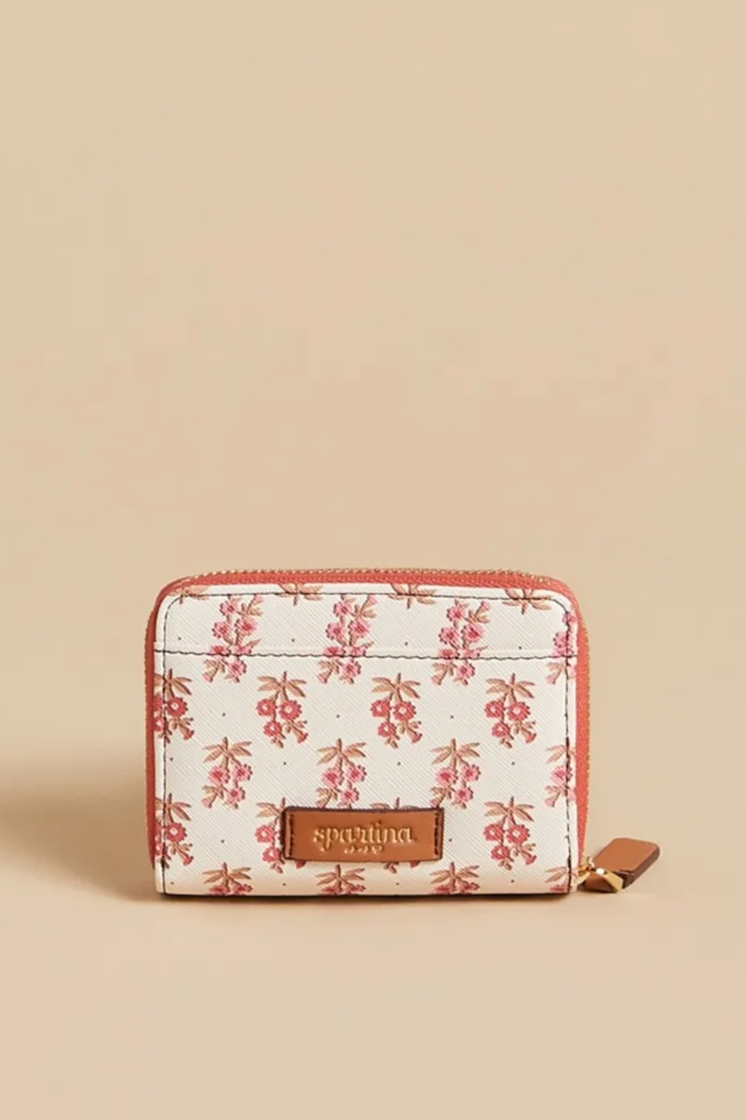 Spartina 449 Mini Wallet-Pink House French Floral - Front Full Image
