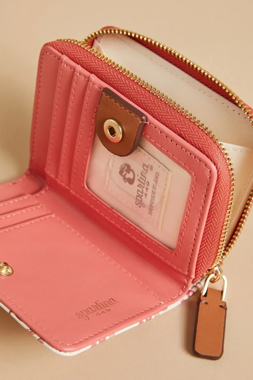Spartina 449 Mini Wallet-Pink House French Floral - Side Cropped Image