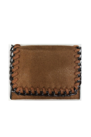 Private Label mini wallet with metal detail - Front cropped