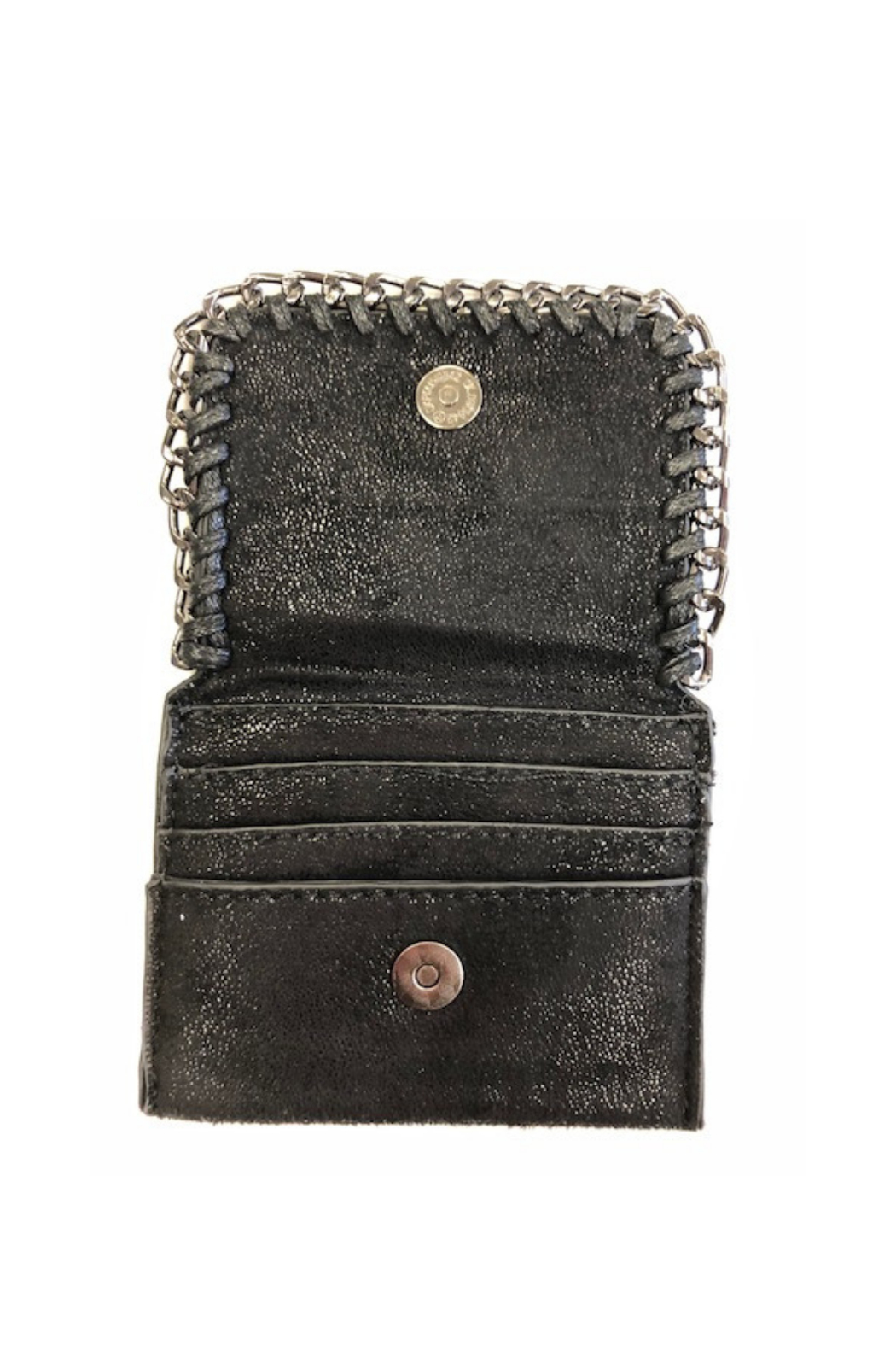 Private Label mini wallet with metal detail - Front Full Image