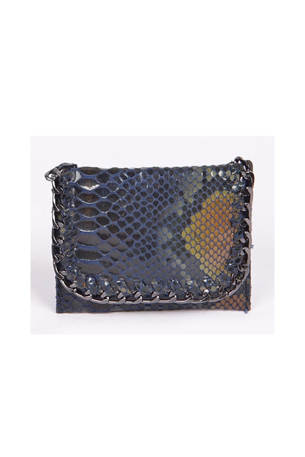 Private Label mini wallet with metal detail - Front Cropped Image