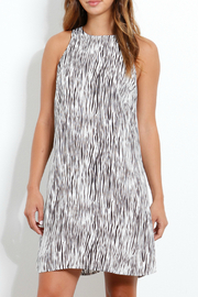 Three Dots Mini Zebra Print Crepe Trapeze Dress - Product Mini Image