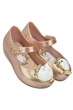 Mini Melissa Metallic Teacup Shoes - Product List Image