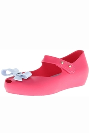 Mini Melissa Ultragirl Bow Flat - Front cropped