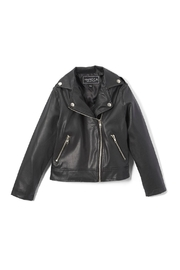 Mini Moca Girls' Moto Jacket - Front cropped