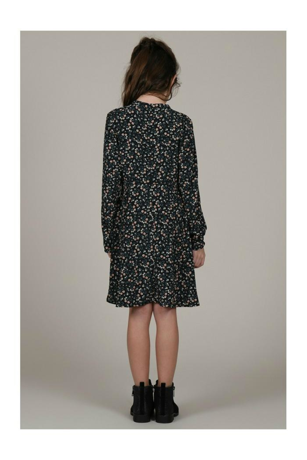 Mini Molly Floral Print Dress - Back Cropped Image