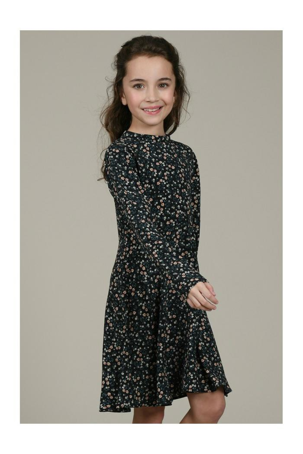 Mini Molly Floral Print Dress - Side Cropped Image