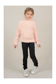 Mini Molly Heart Sparkly Sweater - Front cropped