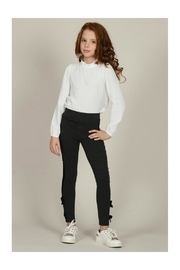 Mini Molly Knit Leggings W/bow - Front cropped