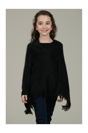 Mini Molly Poncho With Fringe - Front full body