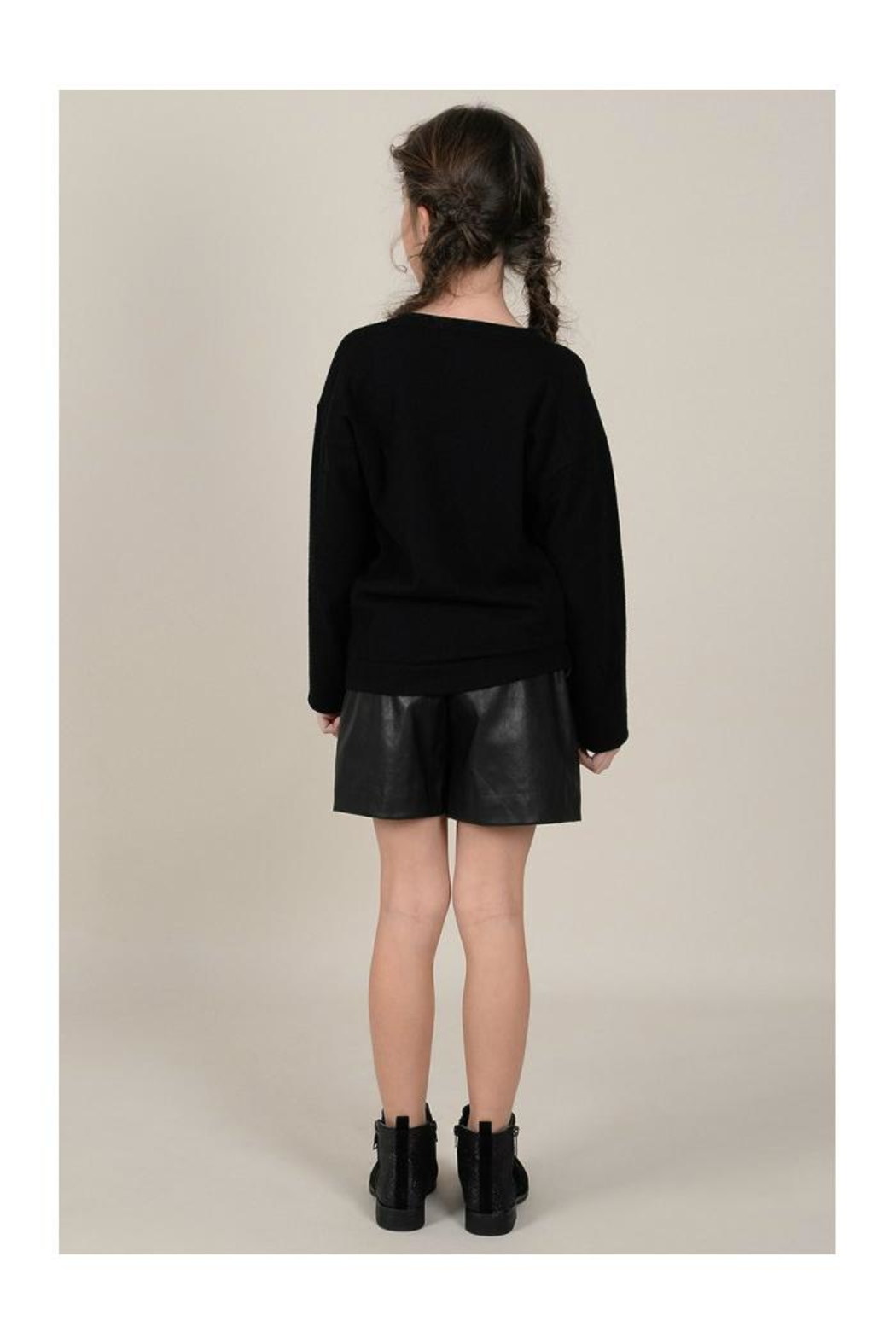 Mini Molly Scattered Bows Sweater - Back Cropped Image