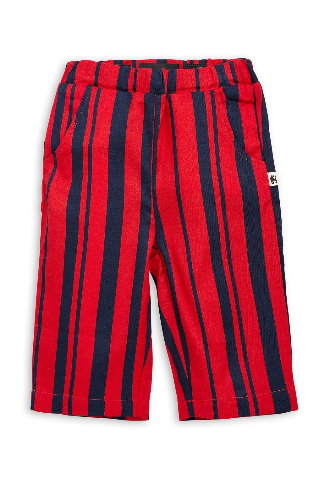 Mini Rodini Odd Stripe Trousers - Front Full Image