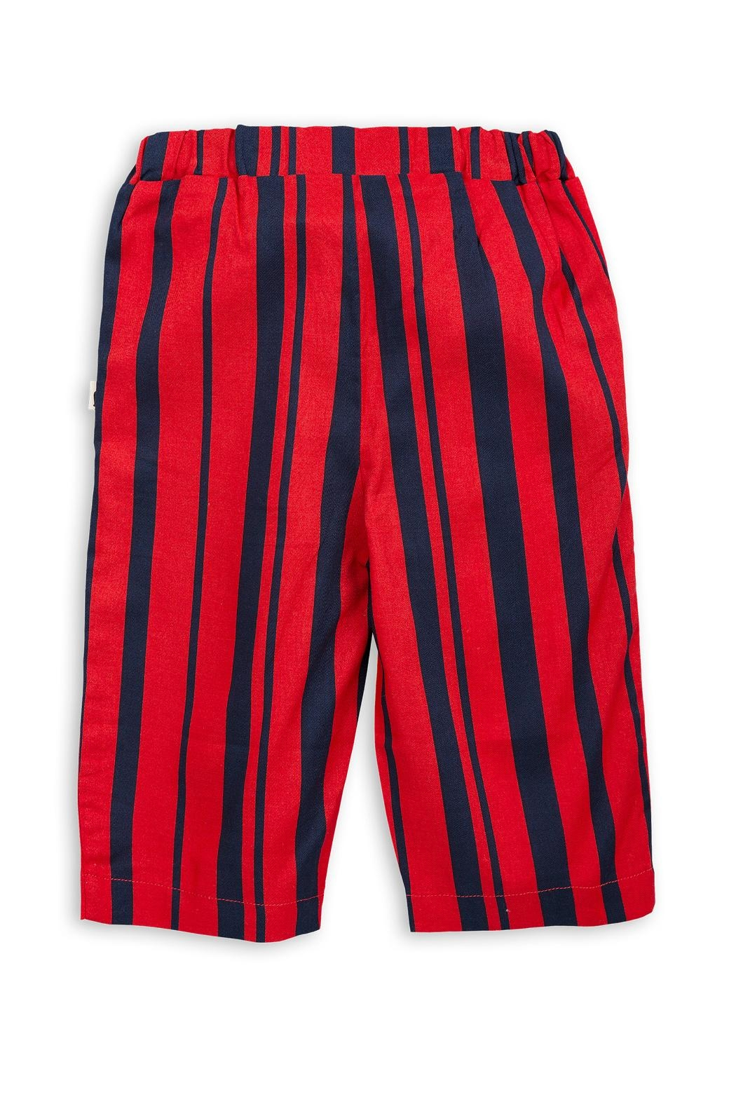 Mini Rodini Odd Stripe Trousers - Back Cropped Image