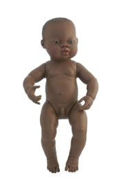 Miniland African Boy Doll - Front cropped