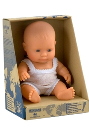 Miniland Baby Boy Doll - Side cropped