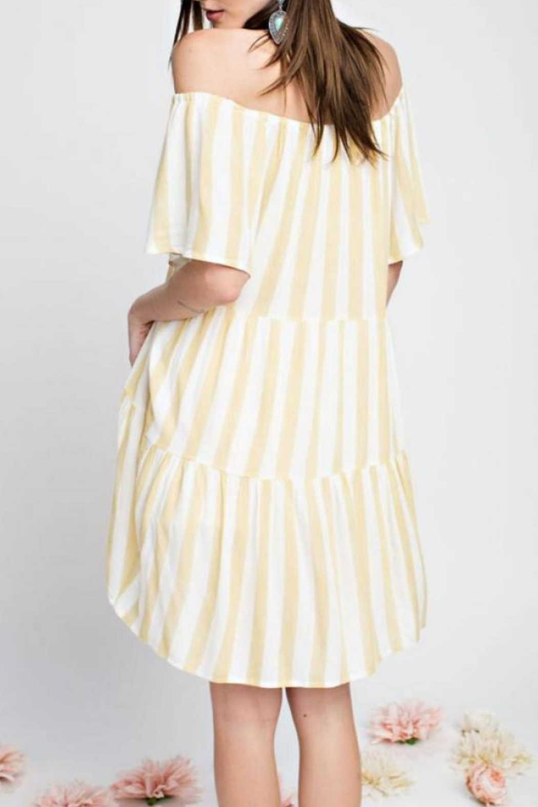easel Minimalist Stripe Tunic - Side Cropped Image