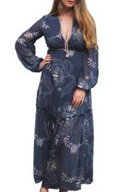 Ministry of Style Boho Floral Maxi  Dress - Front cropped
