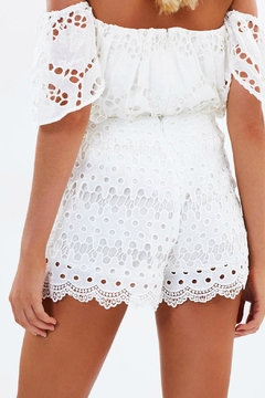 Ministry of Style White Lace Shorts - Alternate List Image