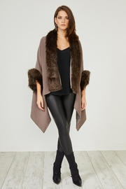 Urban Touch Mink Fauxfur Trimcoat - Product Mini Image
