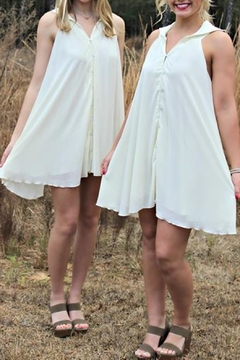 MINKPINK Cream Foretold Dress - Product List Image