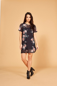 Shoptiques Product: Floral Mesh Tee-Dress