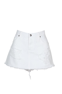 Mink Pink Wrecked Denim Skort - Product List Image