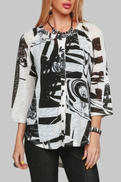 Minkas Abstract Print Top - Product List Image