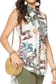 Minkas Earth Tones Tunic - Front cropped