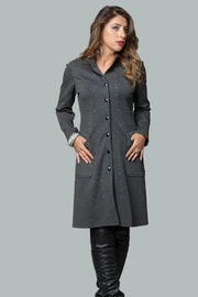 Minkas Grey Studded Coat - Product Mini Image