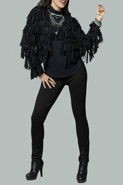 Minkas Shaggy Fringe Crop Sweater - Front cropped