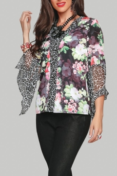 Minkas Silky Print Top - Product List Image