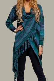 Minkas Wrap Style Cardie - Front cropped