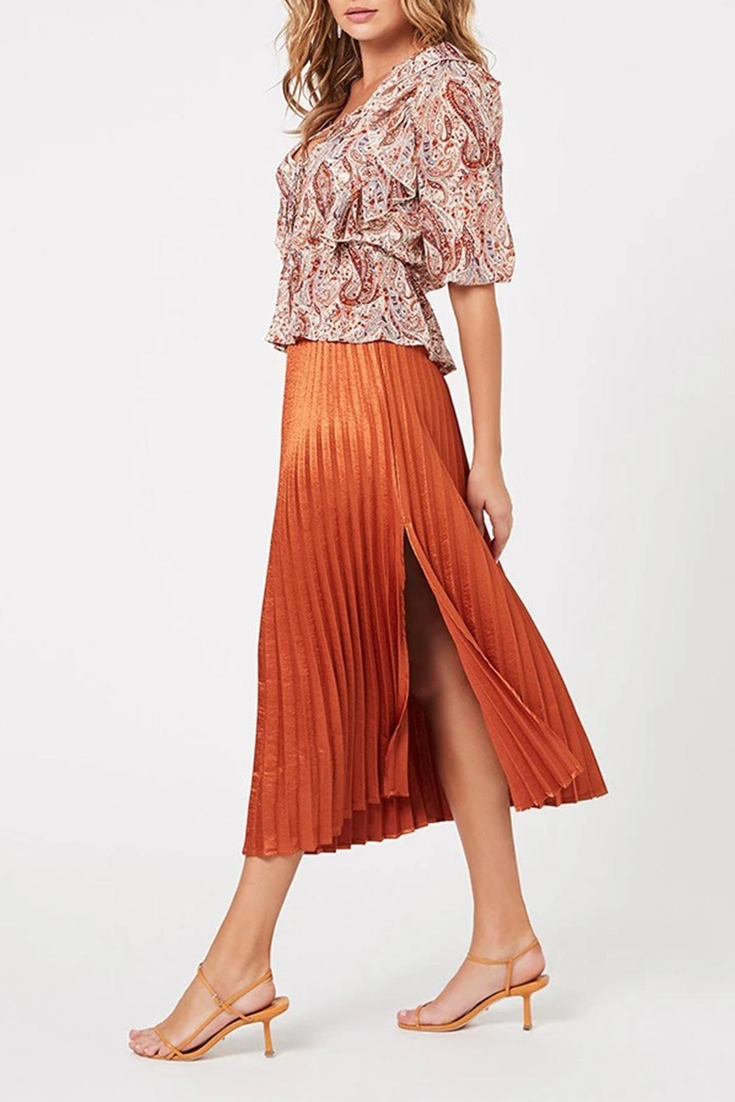 MINKPINK After-Glow Pleat Skirt - Front Full Image