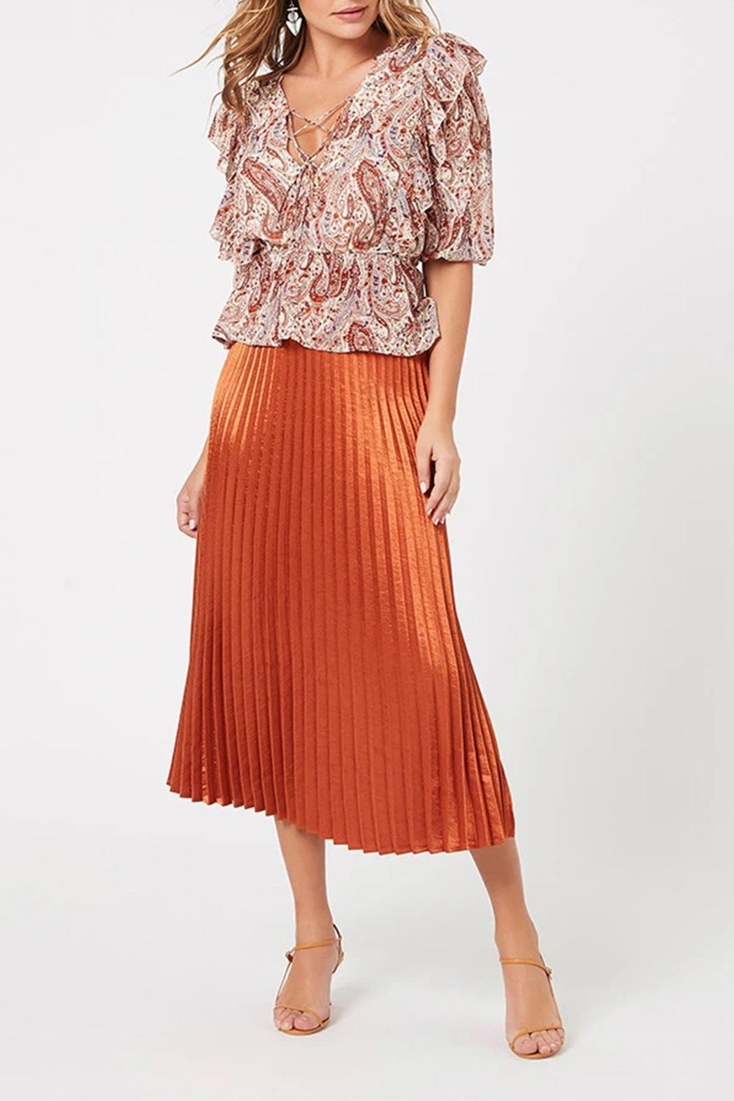 MINKPINK After-Glow Pleat Skirt - Side Cropped Image