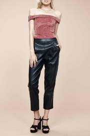 MinkPink Audrey Pleather Pants - Front full body