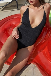MINKPINK Black Shirred Swimsuit - Product Mini Image