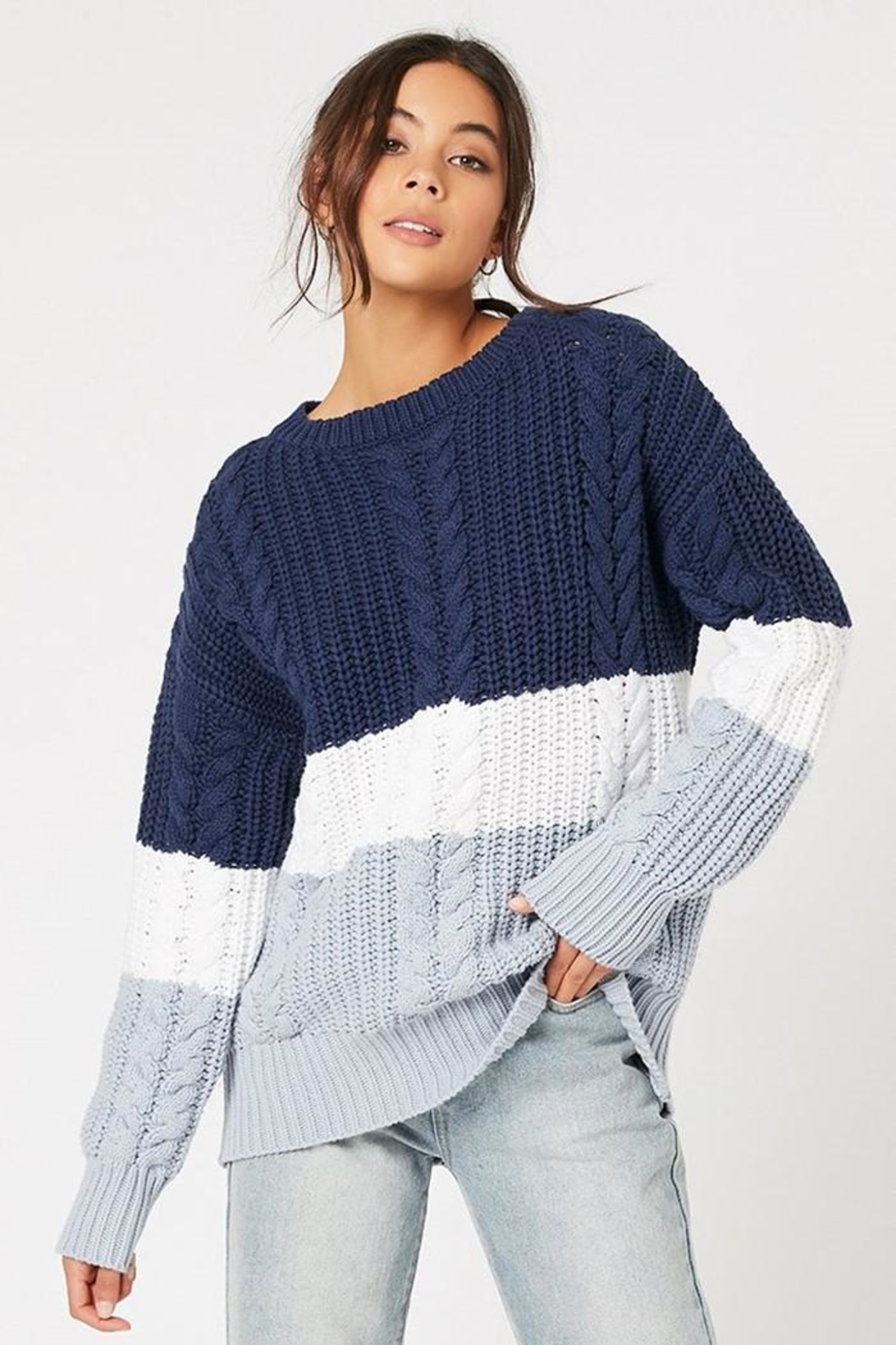MINKPINK Blue Afternoon Sweater - Main Image