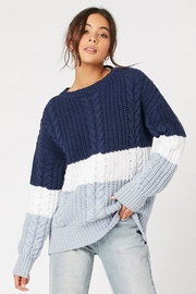 MINKPINK Blue Afternoon Sweater - Front cropped