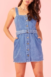 MINKPINK Button Denim Dress - Product Mini Image