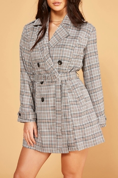 MINKPINK Check Trench Coat - Product List Image
