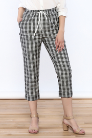 MinkPink Checked Tapered Pant - Product Mini Image